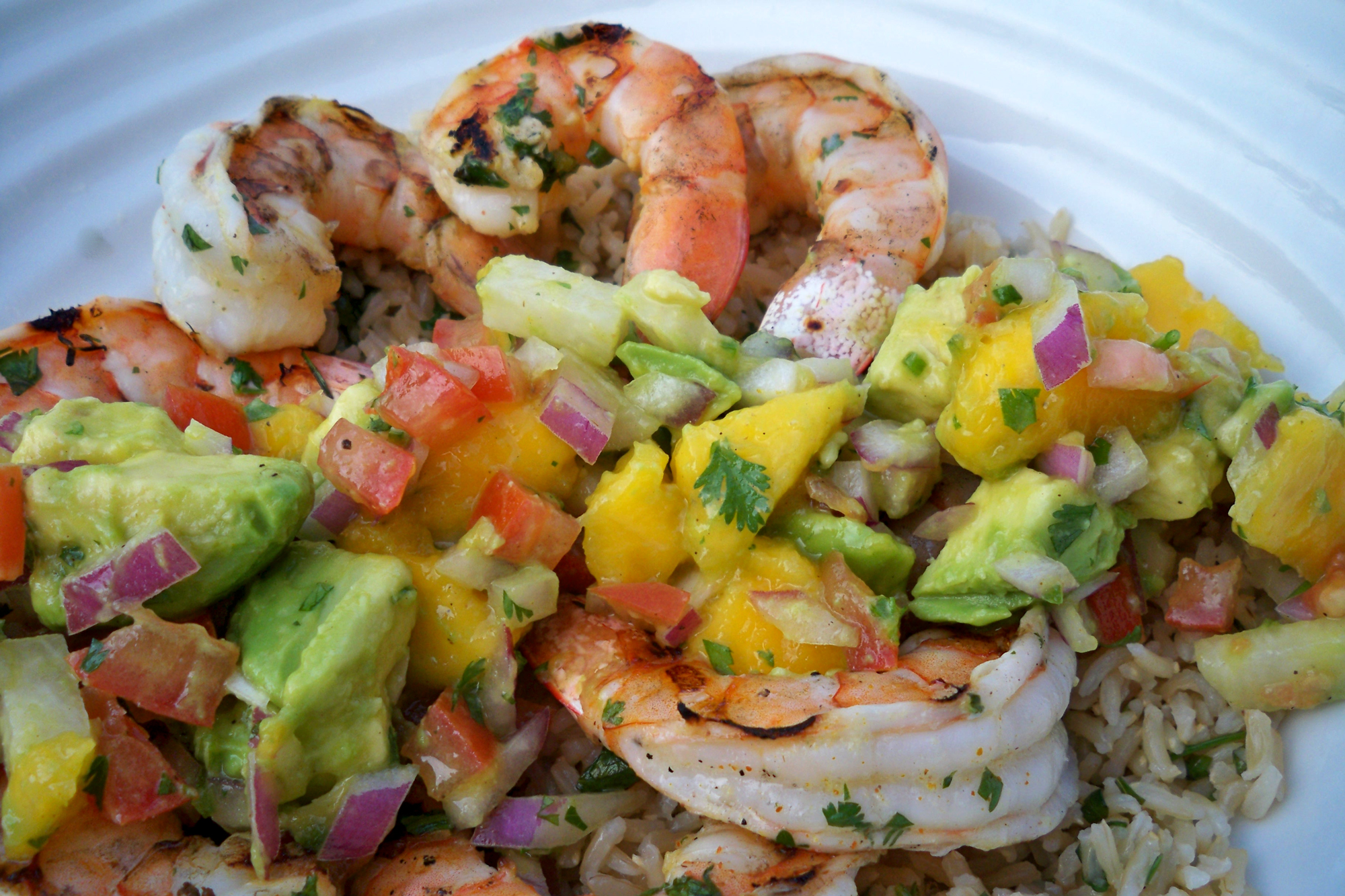 Grilled Shrimp with Mango Salsa and Cilantro Rice | Cook Better Than ...