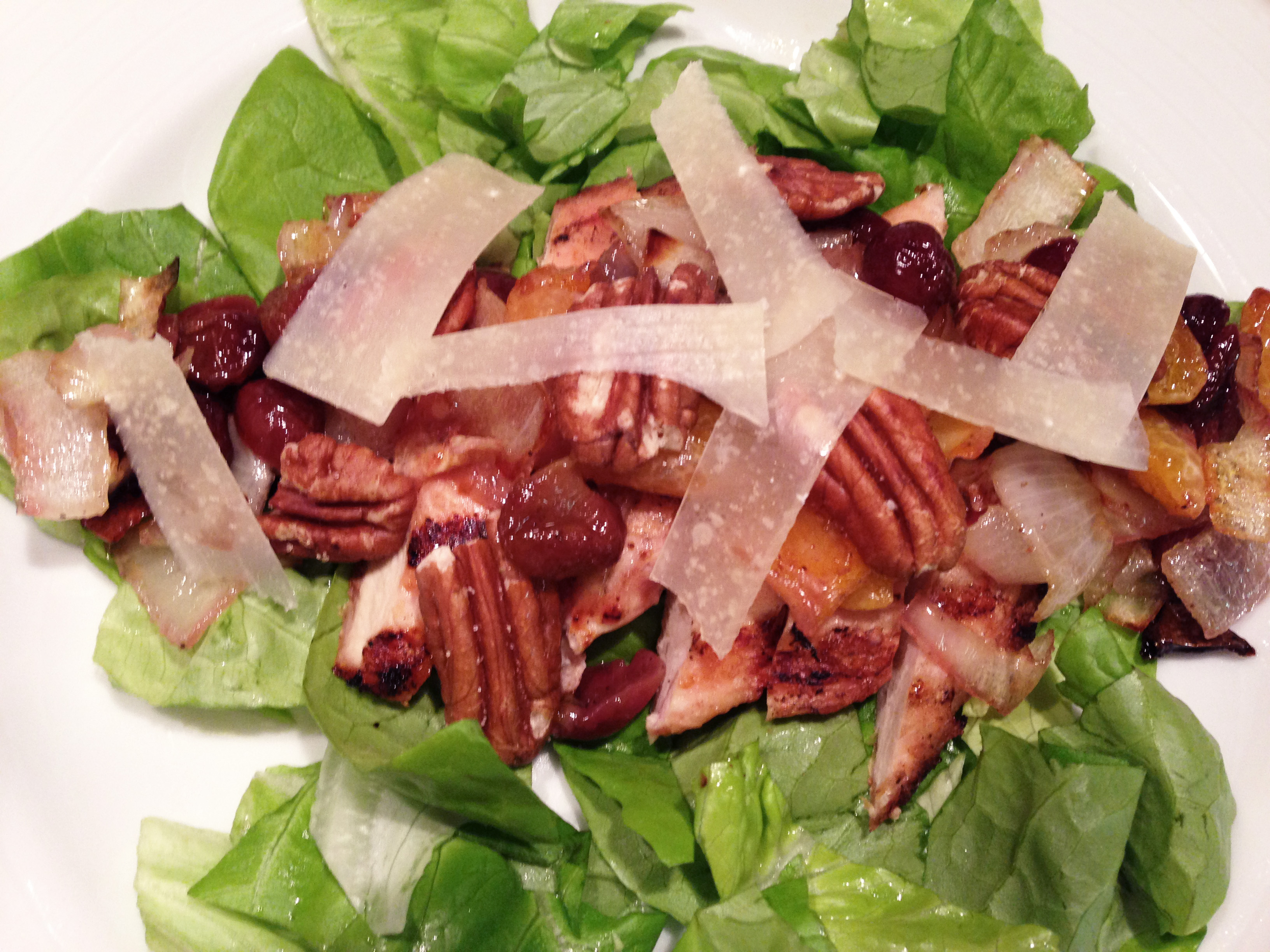 Chicken Salad with Roasted Fruit and Pecans