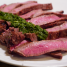 Marinated Flat Iron Steak with Kale and Basil Sauce